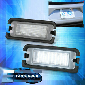 For 15-20 Ford Mustang S550 Error Free White SMD LED License Plate Lights Pair