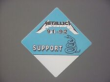 Metallica satin backstage pass Authentic 91-92 - Support light blue pass !