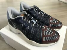 850$ Valentino Garavani Blue Leather Sneakers size US 9, EU 42 Made in Italy