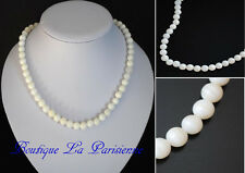 Natural Mother of Pearl Necklace Bead Chain Pearls