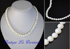 Natur Perlmuttkette Perlenkette Kette Perlen Perlmutt Halskette Collier Kollier