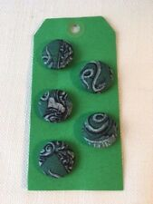 Set of 5 Harry Potter/Hogwarts Buttons/Badges 23mm diameter for Slytherin House