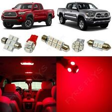 9x Red LED Interior Lights Package Kit for 2016-2017 Toyota Tacoma TT5R