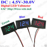 DC 4.5V-30.0V Digital LED Panel Voltage Meter Voltmeter 5V 12V 24V Car Battery