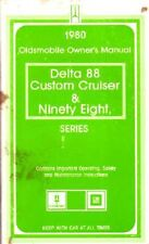 1980 Oldsmobile 98 Delta 88 Owners Manual Guide Reference Operator Book Fuses