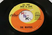 Variant BEATLES 45 All You Need Is Love / Baby You're A Rich Man CAPITOL 5964