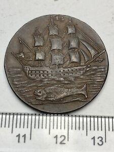High Grade 1796 Old Ship & St George + Dragon Conder Token: D&H Hamps 80 (C766)