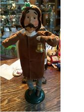 Byers Choice Caroler MAN IN CORDUROY COAT WITH BELL  *Brand New*