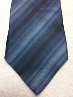 MURANO MENS TIE BLUE AND GRAY FADED STRIPES 4 X 59