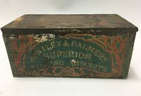 VTG Huntley & Palmers Breakfast Superior Reading Biscuits London Tin 1878 & 1900