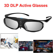 Rechargeable 3D Glasses Active Shutter DLP Link 96-144HZ For BenQ Sharp Samsung