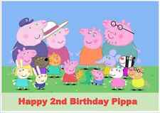 Personalised A4 Peppa Pig Edible Wafer Paper Cake Topper