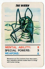Original 1978 Dr Doctor Who Top Trumps type card The Wirrn