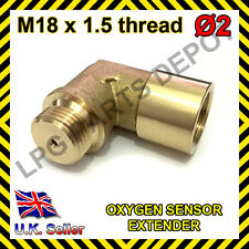 Lambda O2 Oxygen Sensor Extender Spacer for Decat & Hydrogen M18xD2 BRASS Elbow