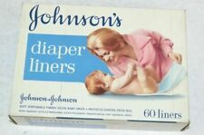 Vintage 1960's Johnson & Johnson Diaper Liners 60-Pack - New Old Stock, Mint