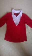 Shirt, Poloshirt Blusenkragen rot/rosa Street One Gr. 42 / M