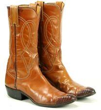 Justin Ft Worth Women's Western Cowboy Boots Exotic Wingtip Boho Festival 6 B
