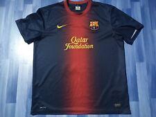 X LARGE ADULTS BARCELONA FOOTBALL SHIRT 2012-2013 HOME