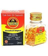 SevenSeaS Original Cod liver Oil Capsules 500 caps- 9/2018 EXPIRY