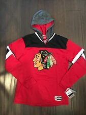 Chicago Blackhawks NEW Youth X-Large Face Off Jersey Hooded Sweatshirt . NHL XL