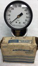 Nos Vintage Ashcroft Psig Pressure Gauge 0 300 Psi 2 12 Inch Diameter
