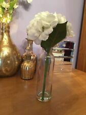 Artificial Hydrangea In Glass.