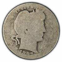 1897-O 25c Silver Barber Quarter - Key Date Coin - SKU-X923