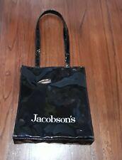 VINTAGE JACOBSON'S DEPARTMENT STORE BLACK VINYL PUSRE HANDBAG BAG