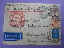 ZEPPELIN BOARDING COVER ...BERLIN TO BUENOS AIRES...1932....1.75 MK