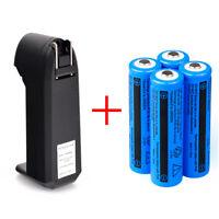4PCS 3000mAh 18650 Battery 3.7v Li-ion Rechargeable Batteries +Smart Charger