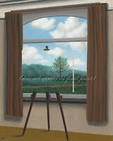 """RENE MAGRITTE Art Painting Poster or Canvas Print """"The Human Condition"""""""