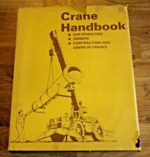 Crane Handbook by D E Dickie (Hardback, 1981) For Operators,Owners, Constractors