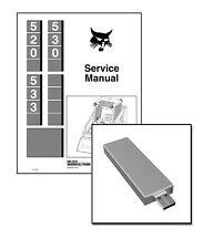 Bobcat 520 530 533 Skid Steer Loaders Workshop Service Repair Manual USB Stick