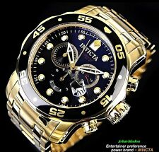 Invicta Men's Pro Diver Collection Chronograph 18k Gold-Plated Luxury Watch
