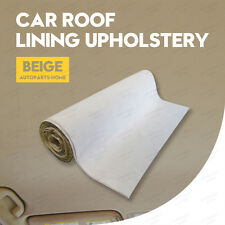 30cmx152cm Car Headliner Upholstery Fabric Head Liner Foam Backed Beige Roof Van