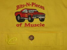 Chase Authentics Bits -n- Pieces of Muscle Car Shirt Yellow Lrg. FREE SUNGLASSES