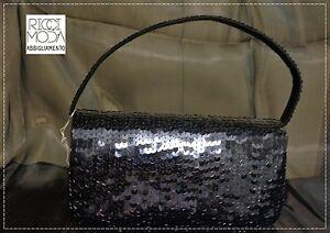 Clutch Bag Satin 1 Handle Flap Big Tutta Sequins 9600770037