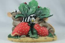Charming Tails 'Sometimes Love Is Berry Shy' Strawberries #84/125 In Original Bx