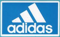 Adidas Vinyl Sticker, Blue/White