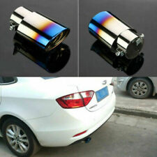 US Universal Car Stainless Steel Exhaust Tail Pipe Muffler Tip Chrome Colorful