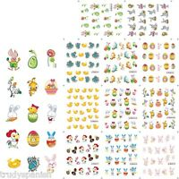 Easter Nail Art Water Decals Stickers Bunny Rabbits Chicks Bows Eggs Gel Polish