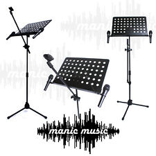 Full size Microphone Mic & Sheet Music Stand + Mic Holders Combo Karaoke Vocals