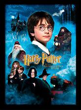Harry Potter Piedra Filosofal - Enmarcado 30 X 40 Oficial Estampado