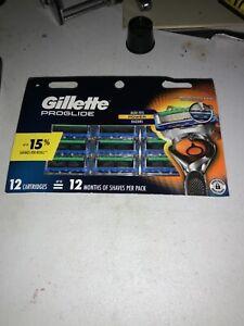 Gillette Fusion5 ProGlide Razor Blades for Men - 12 Refills