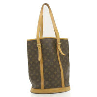 LOUIS VUITTON Monogram Bucket GM Shoulder Bag M42236 LV Auth cr715