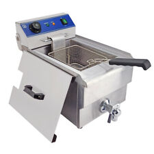 10L Commercial Electric Deep Fryer Fat Chip Single Frying Cooker Countertop