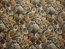 Pine Cones Stacked-All Over Design-Fat 1/4-Elizabeth Studios