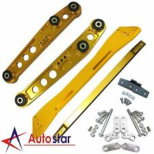 Gold Rear Lower Control Arm Subframe Brace Tie Bar Kit For Civic Integra