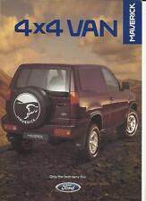 FORD MAVERICK 4x4, 3 DOOR SWB VAN (ASPEN) SALES 'BROCHURE'/SHEET  FEBRUARY 1996
