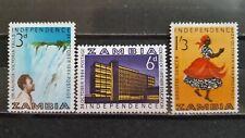 ZAMBIA 1964 mi.nr 15-17 MINT.H.
